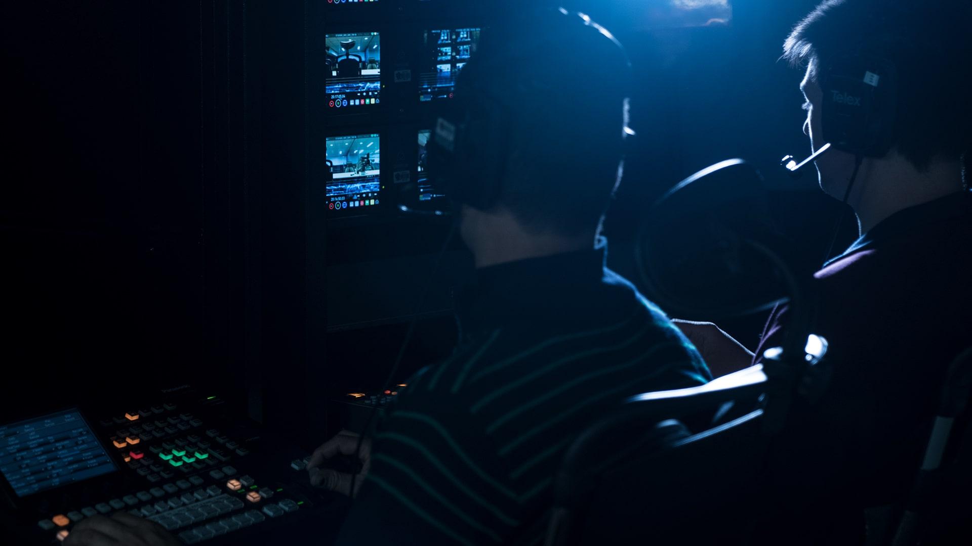 Foto de produção de vídeos
