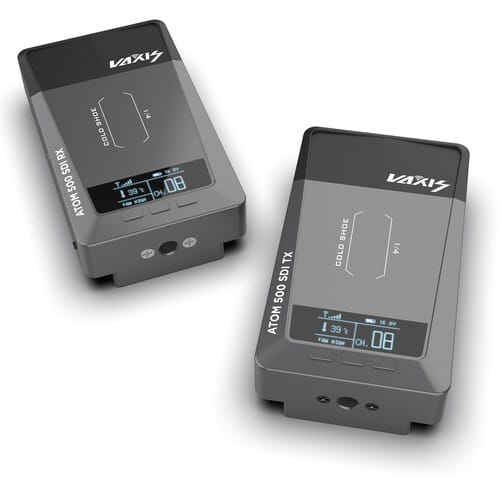 Kit de transmissor e receptor de vídeo sem fio Vaxis ATOM 500 SDI (SDI / HDMI)